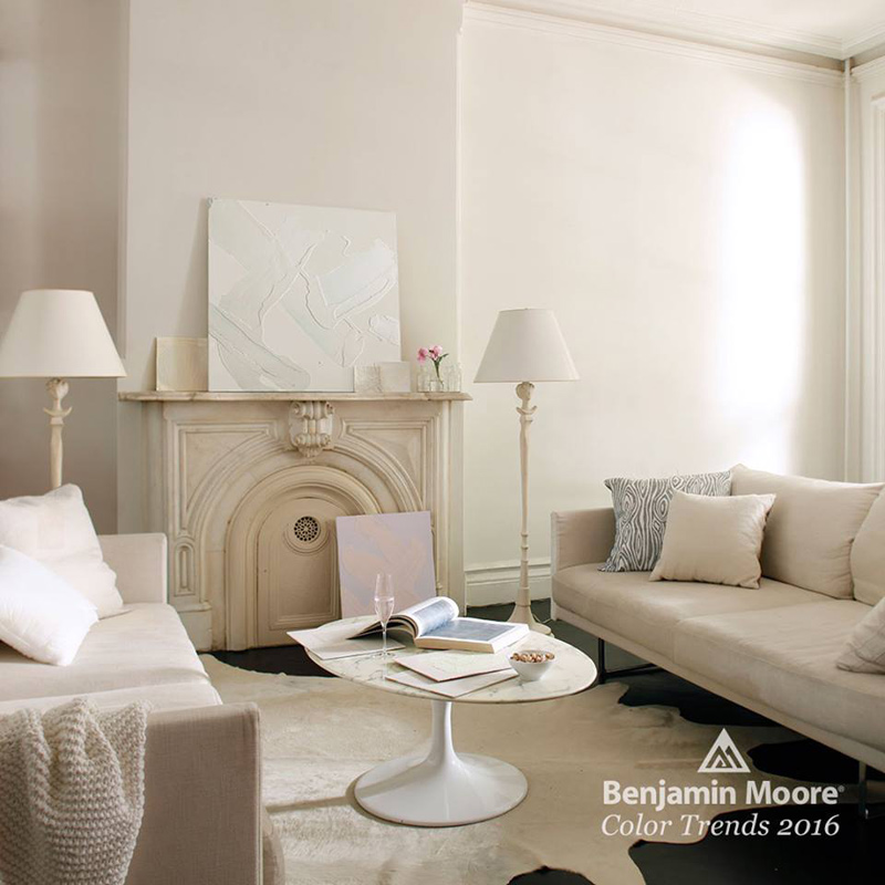 benjamin moore color of the year 2016 simply white traget. Black Bedroom Furniture Sets. Home Design Ideas
