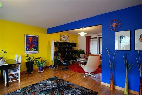blue and yellow walls - photo #6