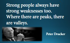 Peter Drucker about strong people