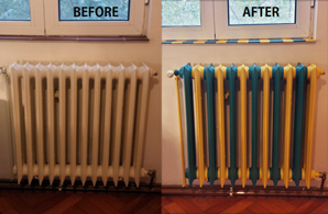 Before and after radiator