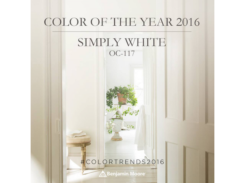 Benjamin Moore Color Of The Year 2016 Simply White Traget