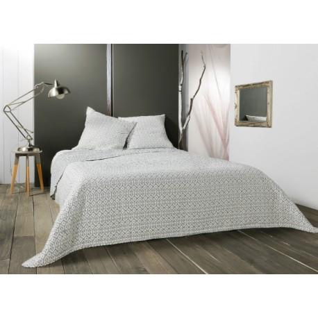 Cuvertura pat moderna Faro alb-gri