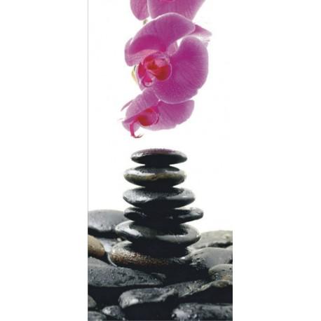 Fototapet Zen - Pietre onix si orhidee
