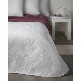 Cuvertura pat alba cu model baroc