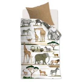 Lenjerie de pat copii cu animale