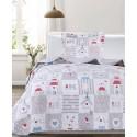 Cuvertura pat copii patchwork Carina