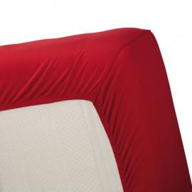 Cearceaf de pat rosu Jersey 160x200 cm
