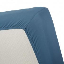 Cearsaf albastru Jersey 160x200 cm