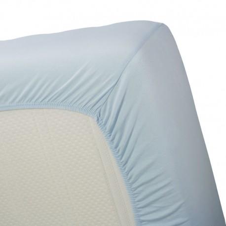 Cearsaf de pat bleu Jersey 80x200 cm