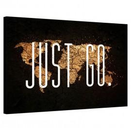 Tablou Harta lumii - Just Go