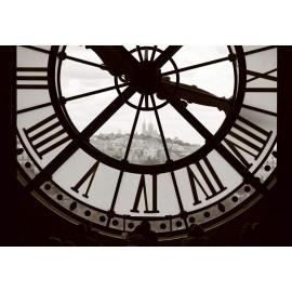Fototapet alb-negru Ceas de turn