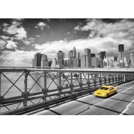 Fototapet Taxi pe Podul Brooklyn