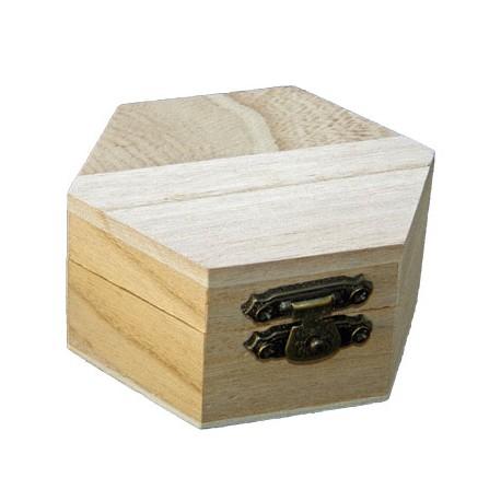 Cutie lemn hexagonala