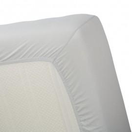 Cearsaf pat dublu Jersey gri 160x200 cm