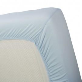 Cearsaf pat dublu Jersey bleu 160x200 cm