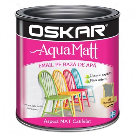 Vopsea acrilica Oskar Aqua Matt Gri scandinav 0.6l