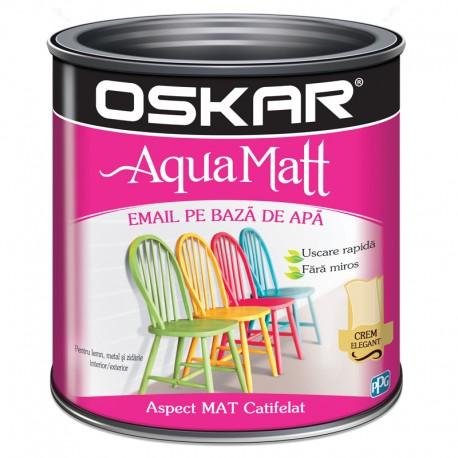 Vopsea acrilica Oskar Aqua Matt Crem elegant 0.6l