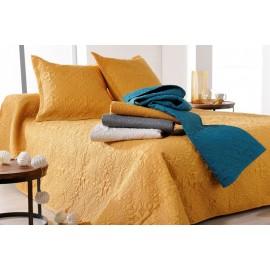 Cuvertura pat Ceylan galben-auriu