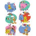 Stickere Winnie the Pooh si prietenii pentru perete camera copii