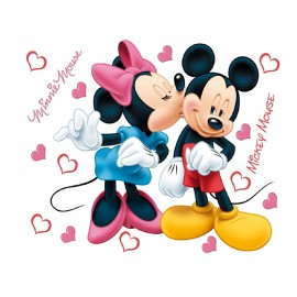 Decorare cu Sticker perete Minnie si Mickey Mouse
