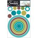 Autocolant cercuri culori pastelate pentru perete si mobila