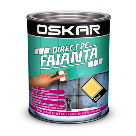 Vopsea Oskar Direct pe Faianta Crem Opal