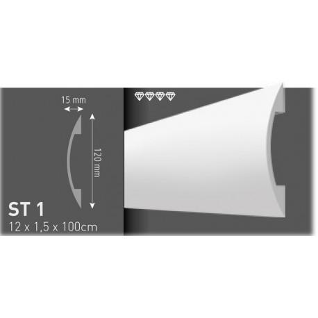 Profil decorativ canal cabluri electrice ST1