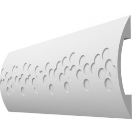 Profil decorativ canal pat cabluri electrice ST2