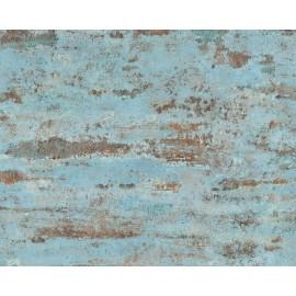 Tapet Beton vintage bleu