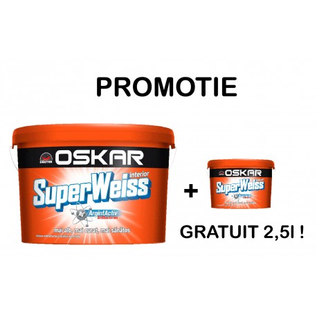 PROMO Vopsea lavabila Oskar SuperWeiss 15L