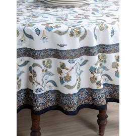 Fata de masa Bastide 160x250 cm alb-bleu