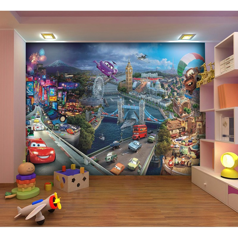 fototapet disney 3 pentru camere copii cars. Black Bedroom Furniture Sets. Home Design Ideas