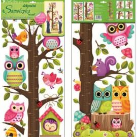 Stickere decorative pentru masurare copii - veverita si bufnite