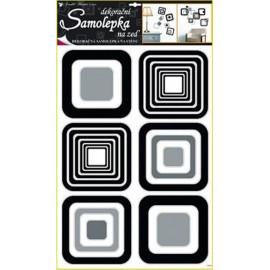 Stickere patrate negre