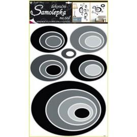 Stickere perete ovale negru si gri