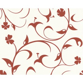 Tapet vlies cu flori stilizate
