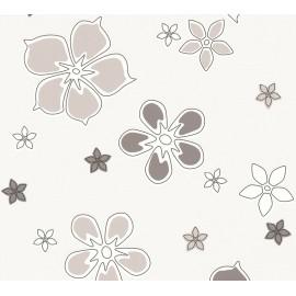 Tapet modern Flori gri