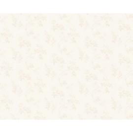 Tapet alb cu trandafiri sidefati