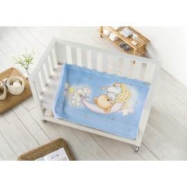 Paturica bebe cu ursulet bleu - detaliu