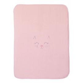 Paturica bebe roz cu pisicuta