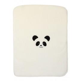 Paturica bebe crem cu urs panda