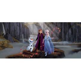 Fototapet Frozen - Olaf si printesele