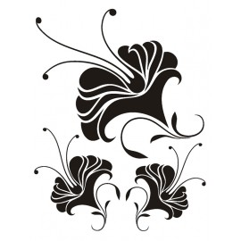 Stickere perete Crini alb-negru