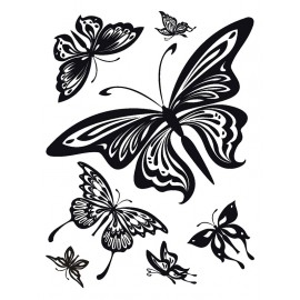 Stickere perete Fluturi alb-negru