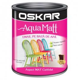 Vopsea acrilica Oskar Aqua Matt Brun puternic 0.6l