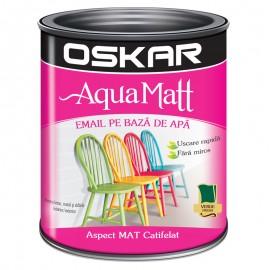 Vopsea acrilica Oskar Aqua Matt Verde fresh 0.6l