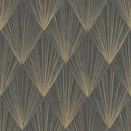 Tapet modern Ava negru-auriu