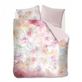 Lenjerie de pat cu flori roz