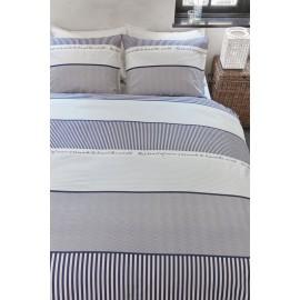 Lenjerie de pat cu dungi in stil marin
