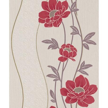 Tapet lavabil cu flori rosii